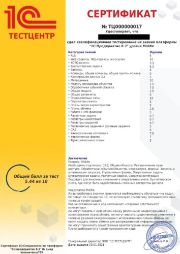 Желтый сертификат